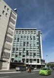 Cityscape van Wellington, hoofdstad van Nieuw Zeeland, op het noordeneiland dat wordt gevestigd Stock Foto's