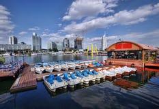 Cityscape van Wenen Stock Foto's