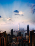 Cityscape van wolkenkrabbers Stock Fotografie