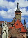 Cityscape van Wuerzburg Royalty-vrije Stock Afbeeldingen
