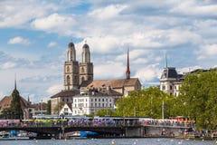 Cityscape van Zürich Stock Fotografie