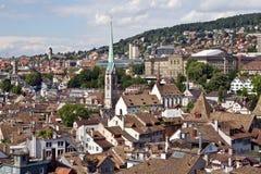 Cityscape van Zürich Stock Afbeelding