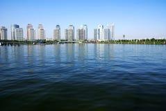 Cityscape van Zhengzhou Royalty-vrije Stock Foto's