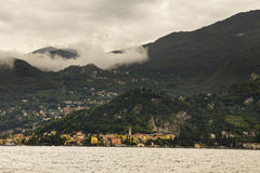 Cityscape Varenna from Lake Como, Italy Royalty Free Stock Photography