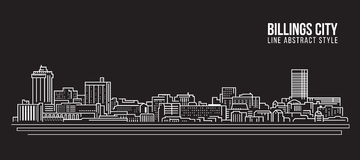 Cityscape Vector de Illustratieontwerp van de Rooilijnkunst - Billings stad stock illustratie