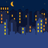 Cityscape. Vector illustratie. Royalty-vrije Stock Foto's