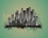 Cityscape vector illustration Royalty Free Stock Photos