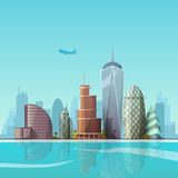 Cityscape. Vector illustration. Royalty Free Stock Images