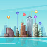 Cityscape. Vector illustration. Royalty Free Stock Photography