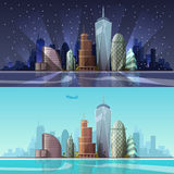 Cityscape. Vector illustration. Stock Photography