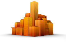 Cityscape. Vector illustration of different buildings Royalty Free Stock Image