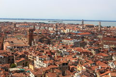 Cityscape in Venice. Beautiful streets and roofs of houses in Venice Italy Stock Photo