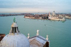 Cityscape of Venice from San Giorgio Maggiore royalty free stock photography