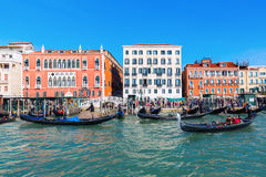 Cityscape of Venice, Italy, viewed from lagoon Stock Image