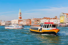 Cityscape of Venice, Italy, viewed from lagoon Stock Photo