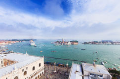 Cityscape of Venice lagoon, Italy Royalty Free Stock Photography
