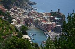 Cityscape of Vernazza in Cinque Terre. Unesco world heritage site. Liguria. Italy. Cityscape vernazza cinque terre unesco world heritage liguria italy seacoast stock photography