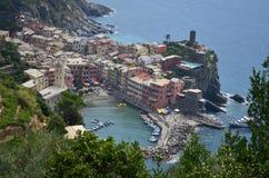 Cityscape of Vernazza in Cinque Terre. Unesco world heritage site. Liguria. Italy. Cityscape vernazza cinque terre unesco world heritage liguria italy seacoast stock photo