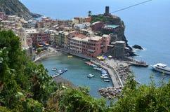 Cityscape of Vernazza in Cinque Terre. Unesco world heritage site. Liguria. Italy. Cityscape vernazza cinque terre unesco world heritage liguria italy seacoast stock images
