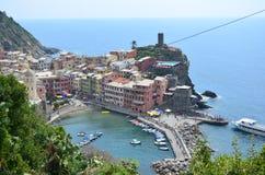 Cityscape of Vernazza in Cinque Terre. Unesco world heritage site. Liguria. Italy. Cityscape vernazza cinque terre unesco world heritage liguria italy seacoast stock photos