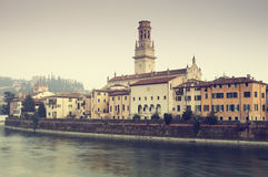 Cityscape of Verona Old Town (Veneto - Italy) Stock Images