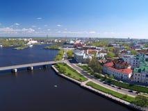 Cityscape of Viborg, Russia stock photography