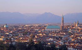 Cityscape of Vicenza, northern Italy Royalty Free Stock Images