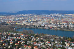 Vienna cityscape. Cityscape of Vienna, capital of Austria, Europe, view from Donau tower Royalty Free Stock Photography