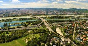Cityscape of Vienna city in Austria Royalty Free Stock Photo