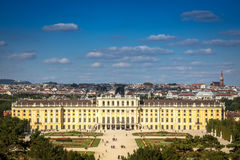 Cityscape Vienna With Schonbrunn Palace Stock Photos