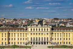 Cityscape Vienna With Schonbrunn Palace Stock Photography