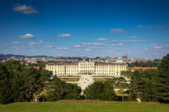 Cityscape Vienna With Schonbrunn Palace Stock Image