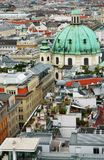 Cityscape of Vienna with St. Peter's church Royalty Free Stock Photography