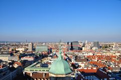 Cityscape of Vienna with St. Peters church in the Royalty Free Stock Photos