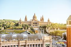 Barcelona city view Stock Images
