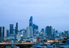 Cityscape view of Bangkok modern office business building in business zone at Bangkok Stock Photography