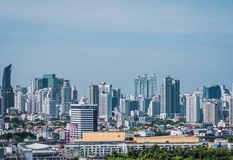 Cityscape view of Bangkok modern office business building. Building in Bangkok, Thailand. stock image