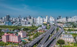 Cityscape view of Bangkok modern office business building. Building in Bangkok, Thailand. stock images