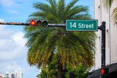 Beautiful Miami Beach royalty free stock photos