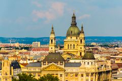 Cityscape view of Budapest, Hungary& x27;s capital city, Europe. Cityscape view of Budapest, Hungary& x27;s capital city in Europe stock image