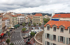 Cityscape view of Cannes before festival. Royalty Free Stock Images