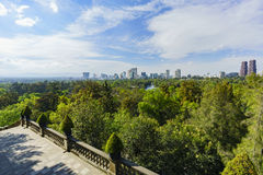 Cityscape view from the Chapultepec Castle Royalty Free Stock Image