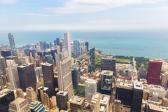 Cityscape view of Chicago at foggy morning Stock Images