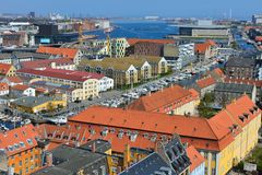Cityscape view from the Church Tower of Our Saviour's Church Royalty Free Stock Image