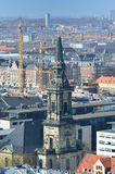 Cityscape view from the Church Tower of Our Saviour's Church Royalty Free Stock Photos