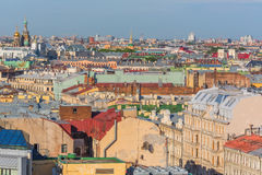 Cityscape view from the Colonnade of St. Isaac's Cathedral, Saint Petersburg, Russia Royalty Free Stock Photo