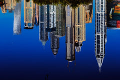 A cityscape view of Dubai Marina in United Arab Emirates Royalty Free Stock Image