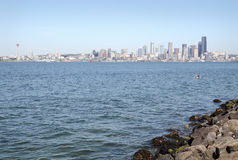 Cityscape View, Elliott Bay, Seattle, USA Stock Photography