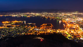Cityscape View From Mt. Hakodate Ropeway Royalty Free Stock Images