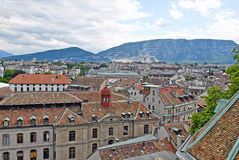 Cityscape View of Geneva, Switzerland Royalty Free Stock Image